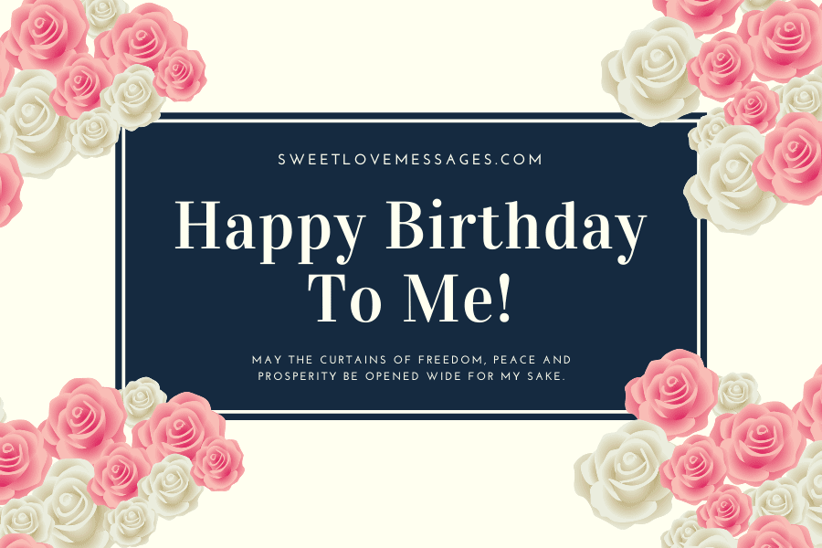 Sensational 2020 Best Birthday Wishes To Myself Sweet Love Messages Personalised Birthday Cards Bromeletsinfo