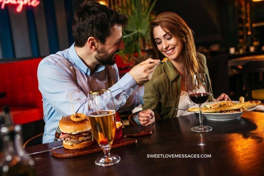 Best Romantic Lunch Messages