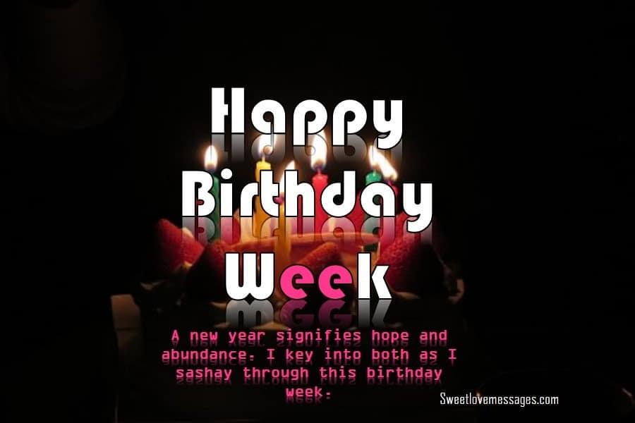 Birthday Week Wishes