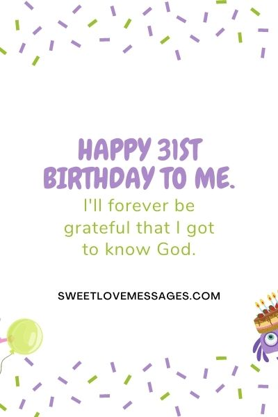 Happy 31st birthday