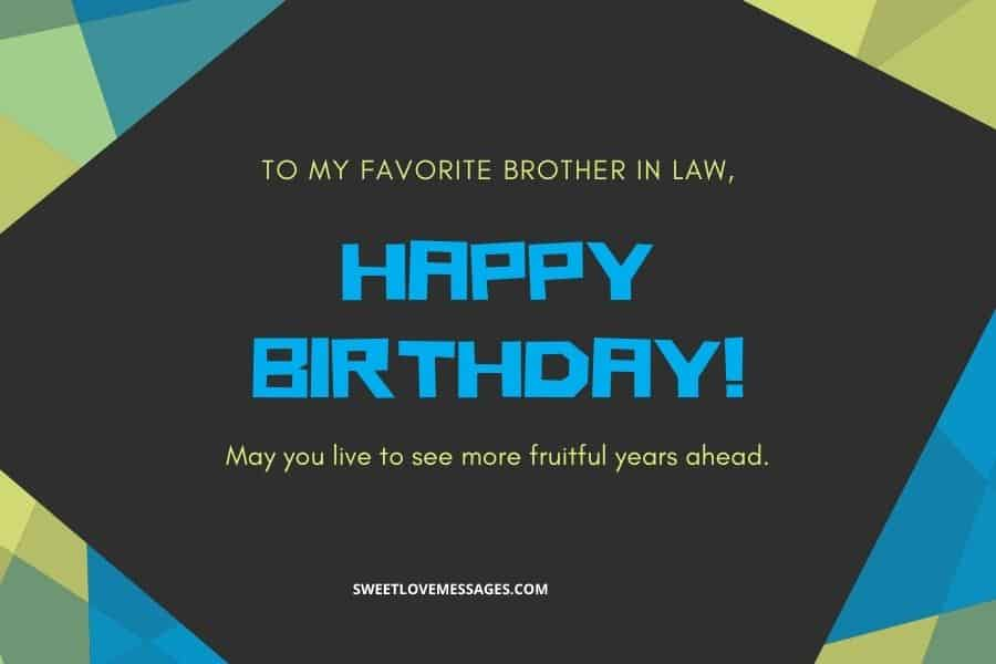 Happy Birthday to My Brother in Law