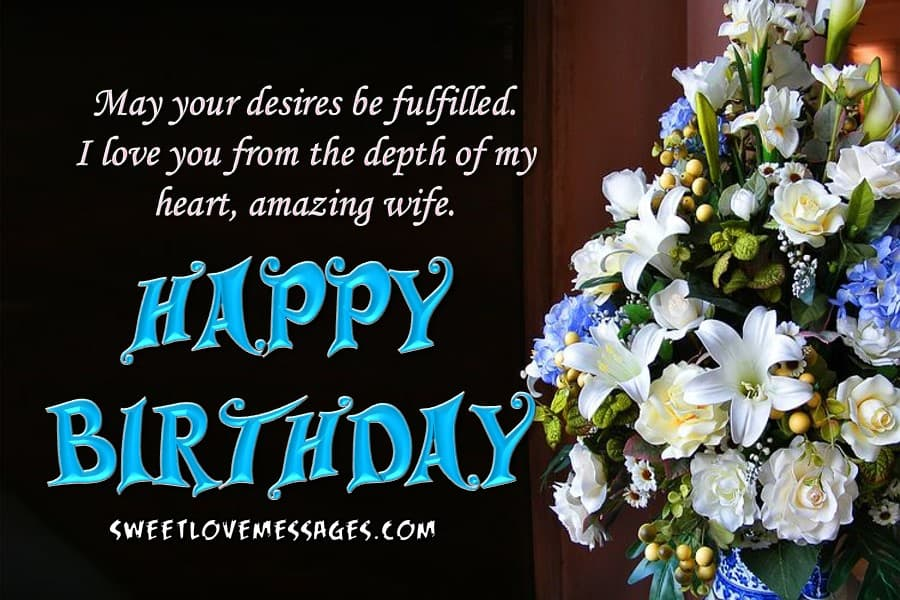 Happy Birthday to My Wife Letter