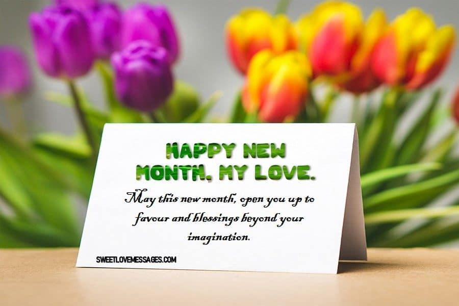 Happy New Month Messages for Her