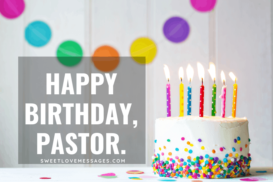Happy birthday, pastor