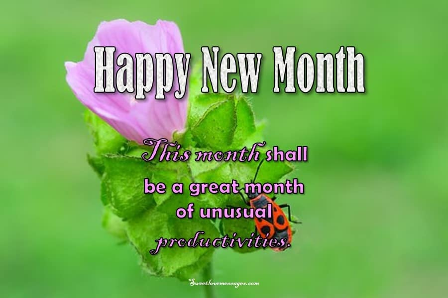 New Month Sms Prayer to Friends