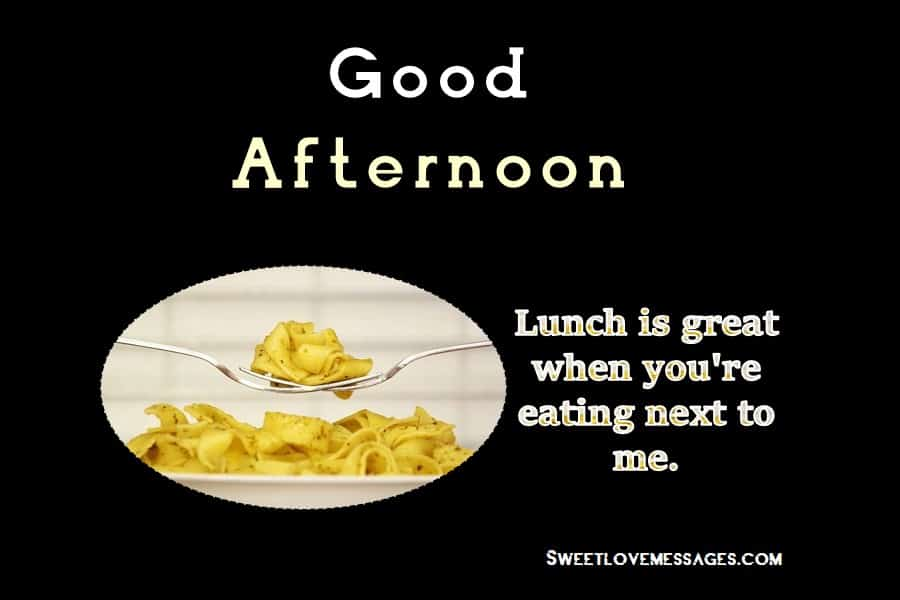 Romantic Lunch Messages