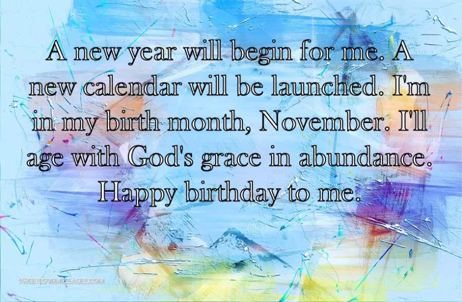 A new year will begin for me