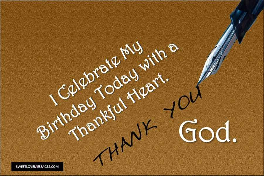 Birthday Thank You Message to God