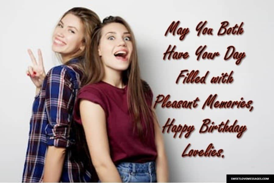 Birthday Wishes for Two Friends on Same Day