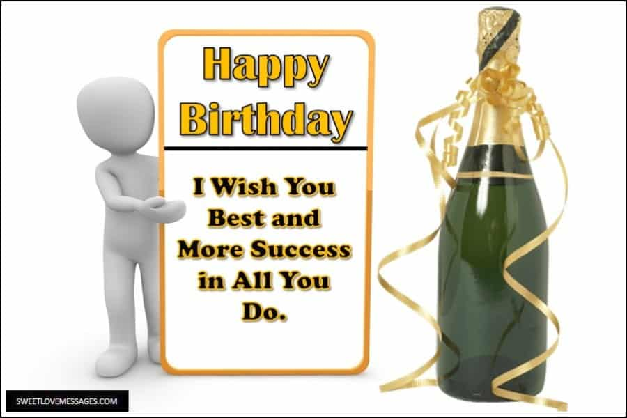 Birthday Wishes to My Boss