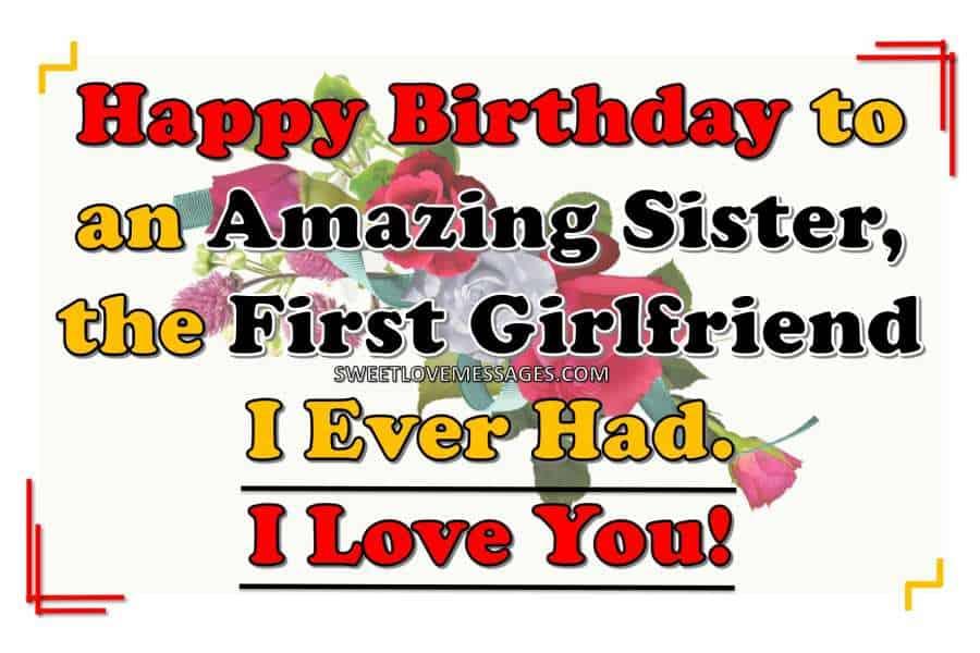Caption for Sister Birthday