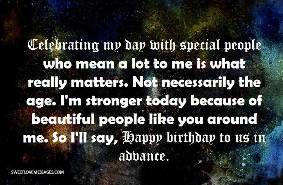 Celebrating my day with special people