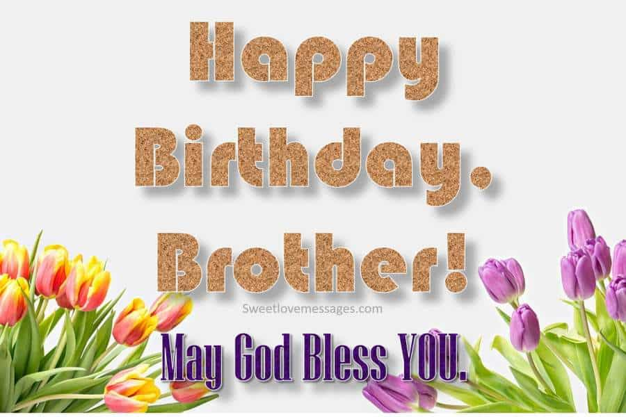 Christian Birthday Wishes for Brother