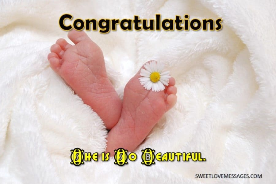 Congratulations on Your Newborn Baby Girl