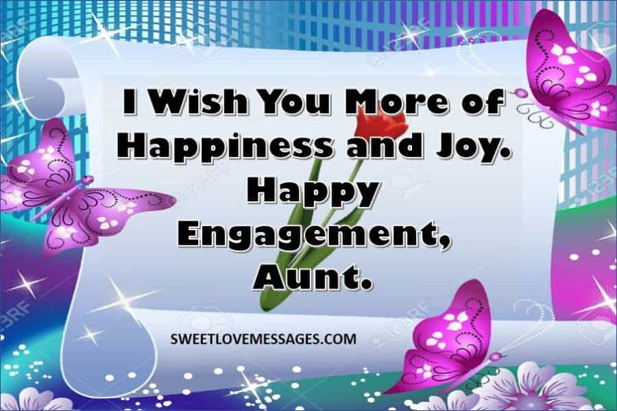 Engagement Wishes for Aunt