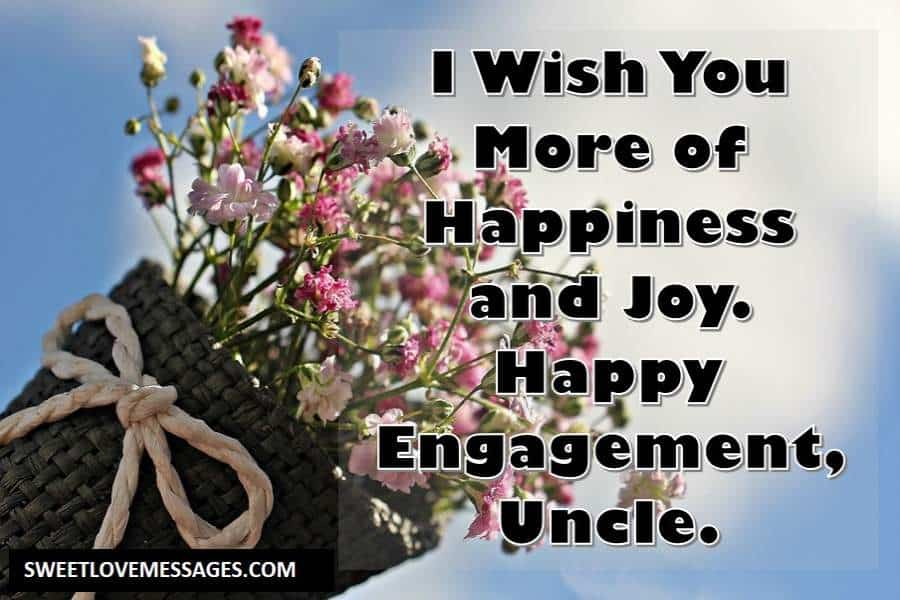 Engagement Wishes for Uncle