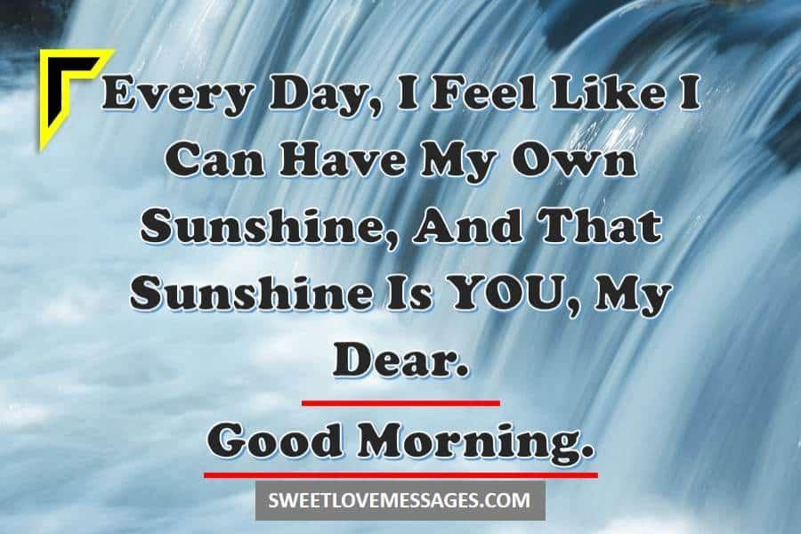 Good Morning My Dear SMS