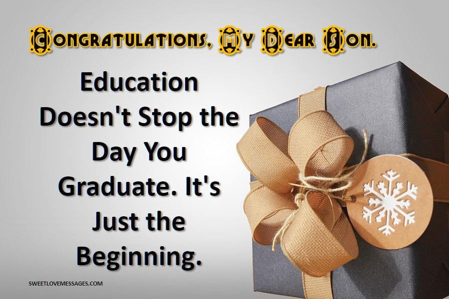 Best Graduation Quotes from Parents to Son in 2020 - Sweet ...