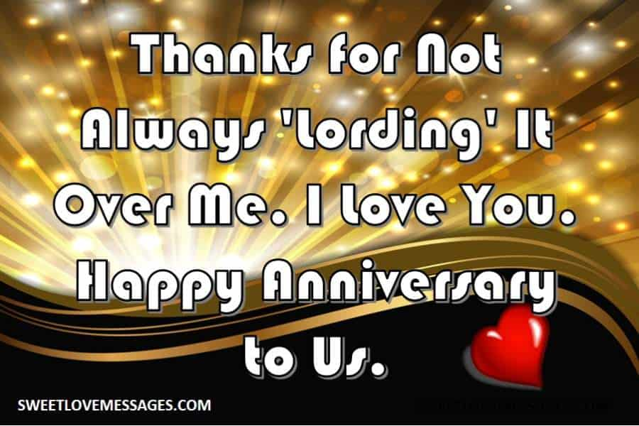 Happy Anniversary from Wife to Husband