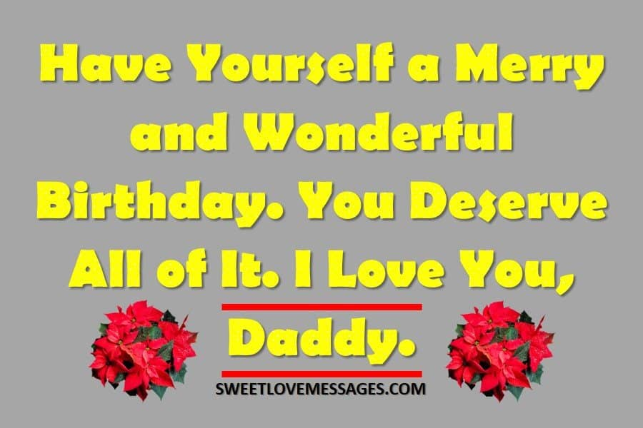 Happy Birthday Message to My Father
