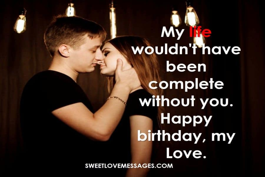 Happy Birthday Wishes for My Lover