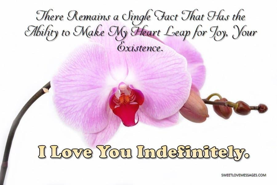I love you infinitely