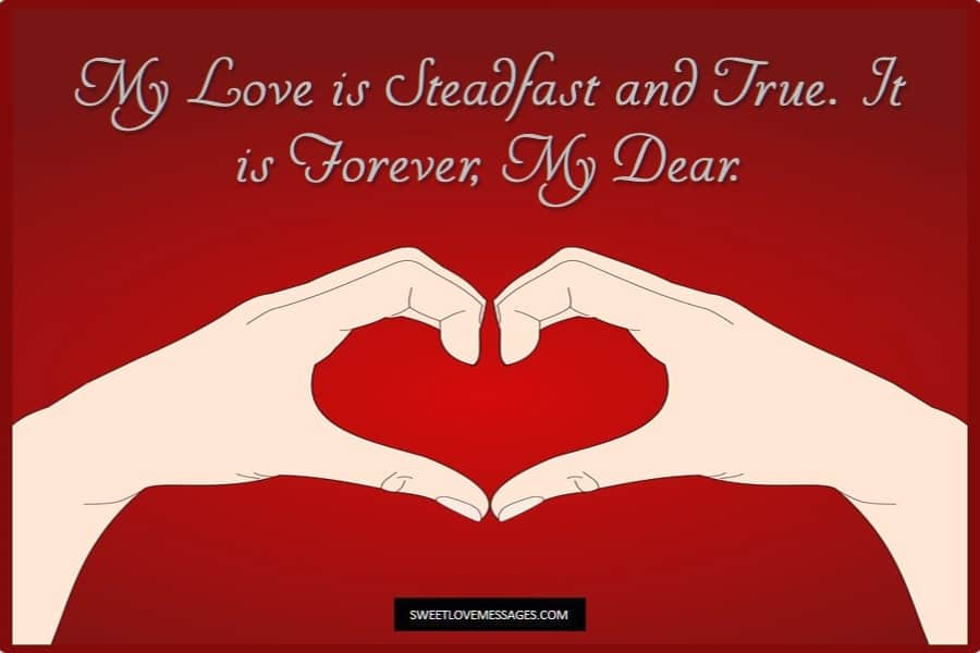 I Love You to Infinity and Beyond Love is Steadfast