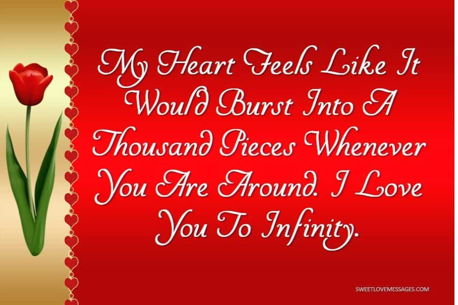I Love You to Infinity and Beyond My Heart Feels