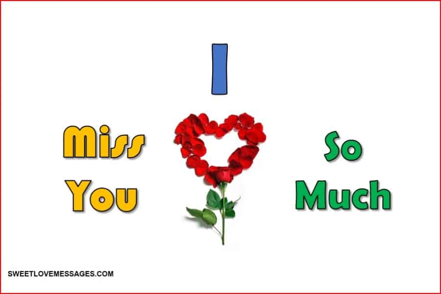 I Miss You SMS for Husband