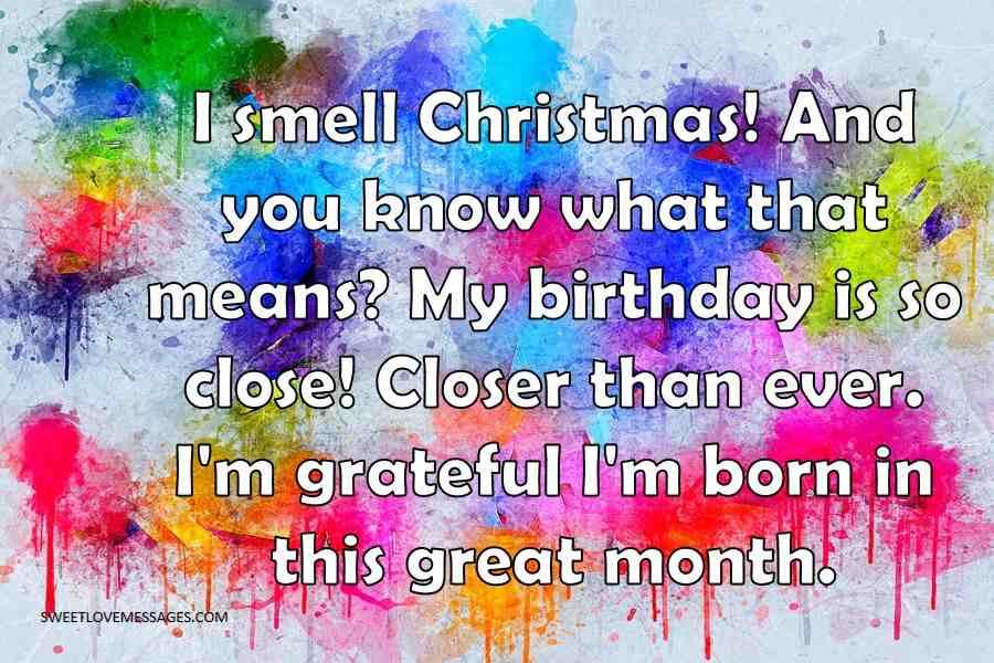 I smell Christmas