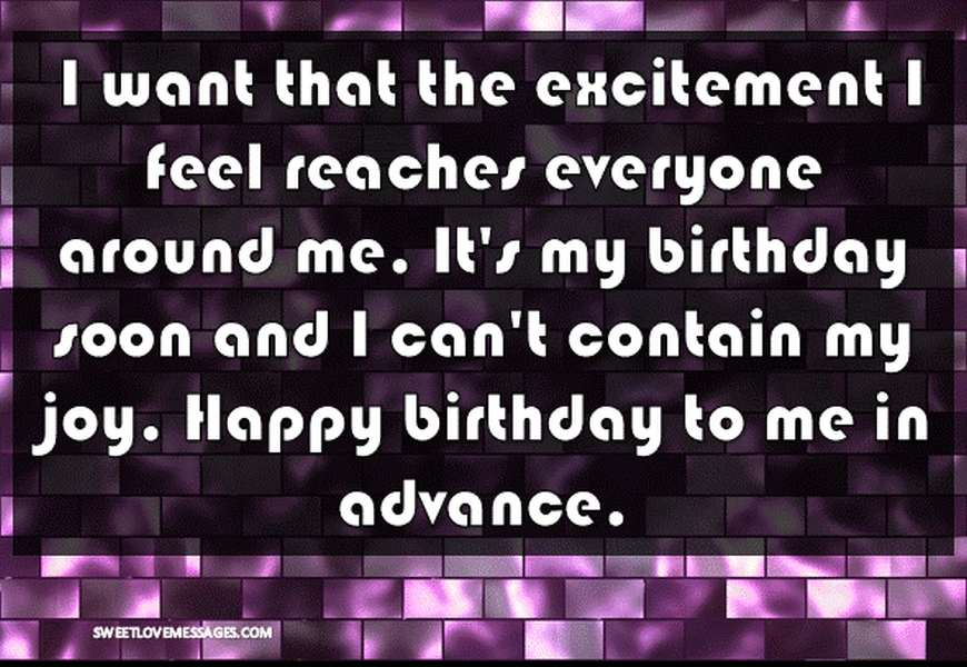 I want that the excitement I feel reaches