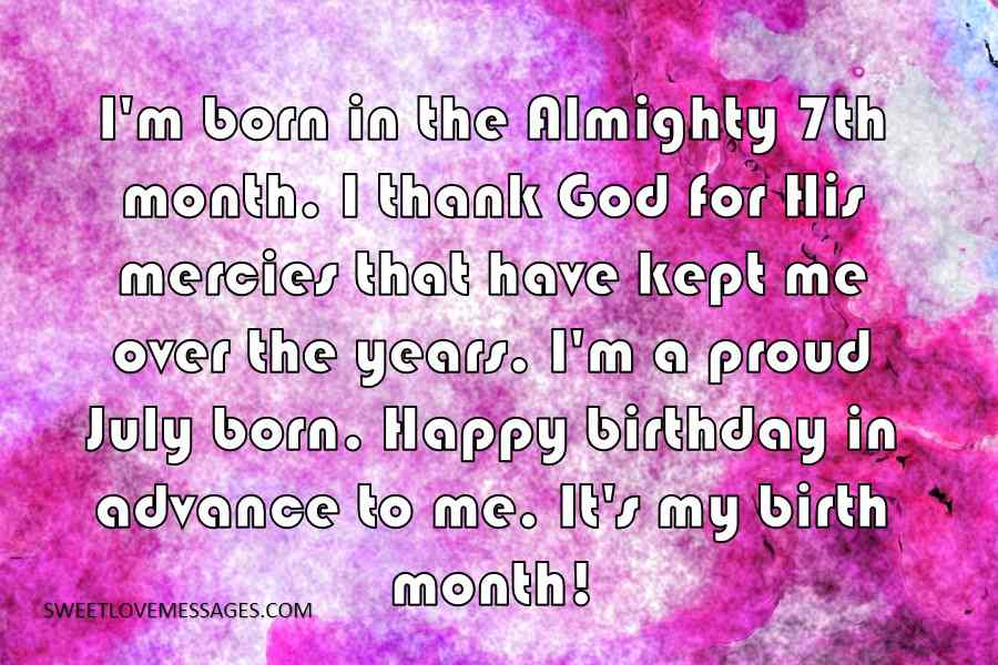 I'm born in the Almighty 7th month