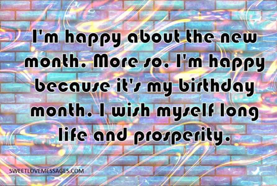 I'm happy about the new month
