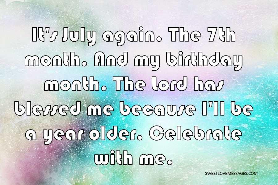 It's July again