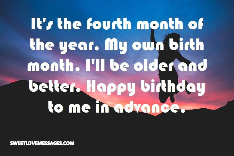 It's the fourth month of the year
