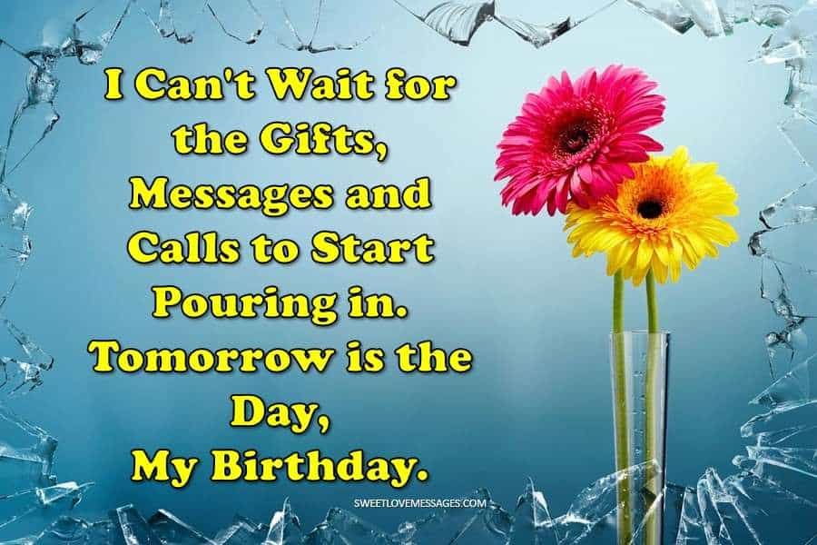 Keep Calm Tomorrow Is My Birthday Start Pouring