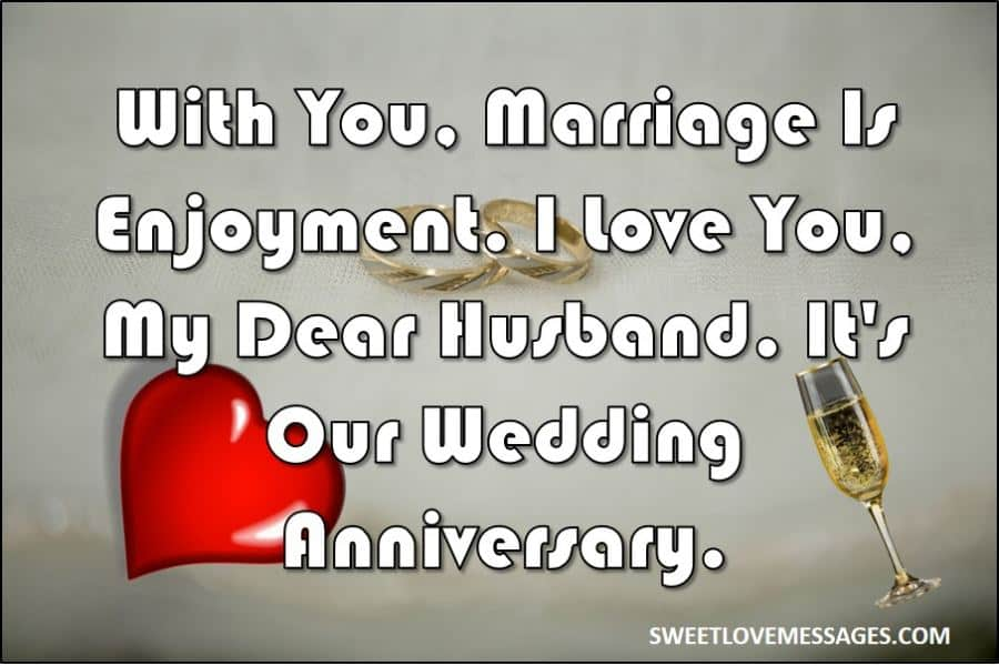 Marriage Anniversary Wishes to Husband from Wife