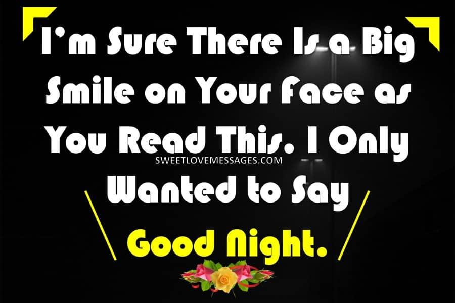 Romantic Good Night Message to My Love
