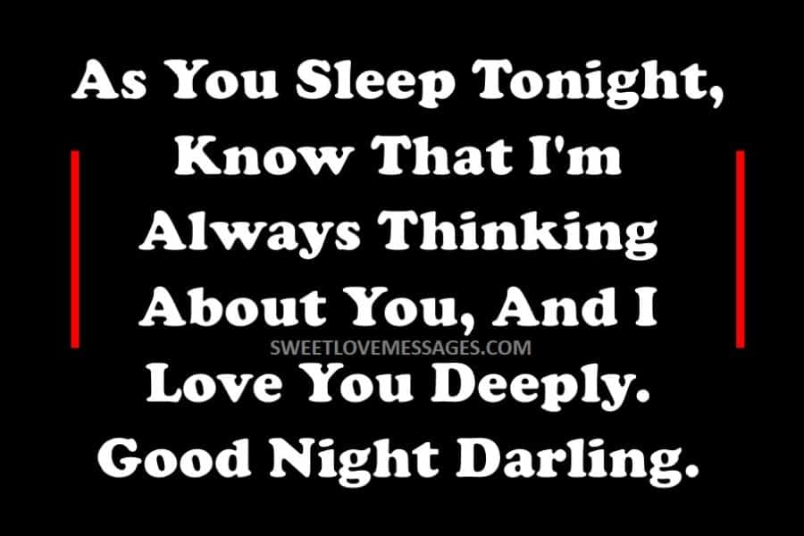 Romantic Goodnight Messages for Him