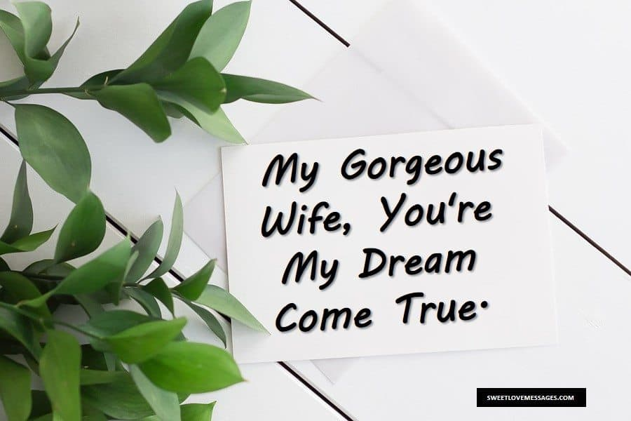 Love Letter For Your Wife from sweetlovemessages.com