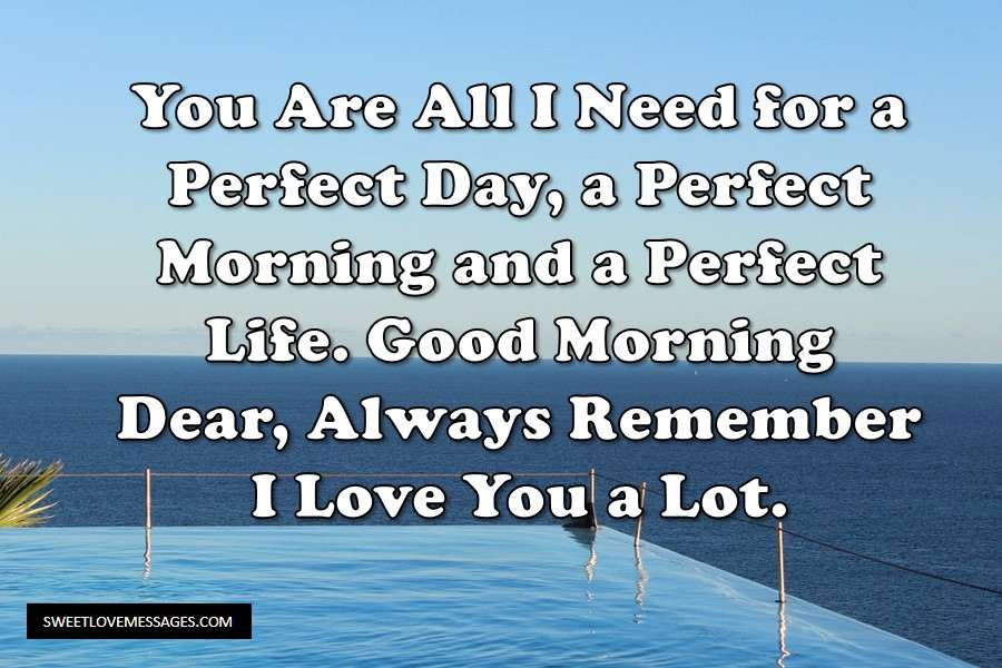 Sweet Morning Message for Him
