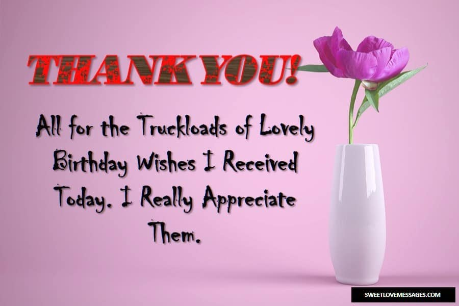 2020 Trending Thank You Message For Birthday Wishes Gifts
