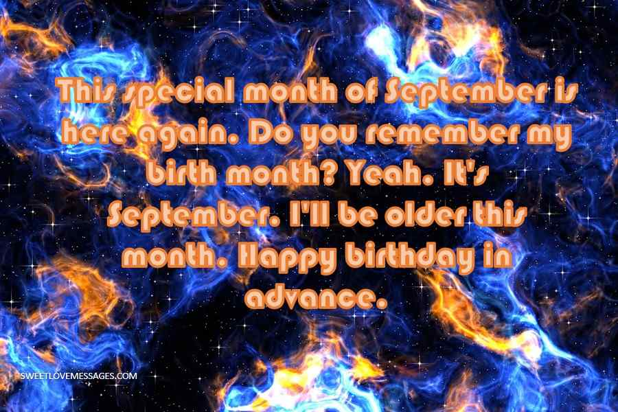 This special month of September is here again