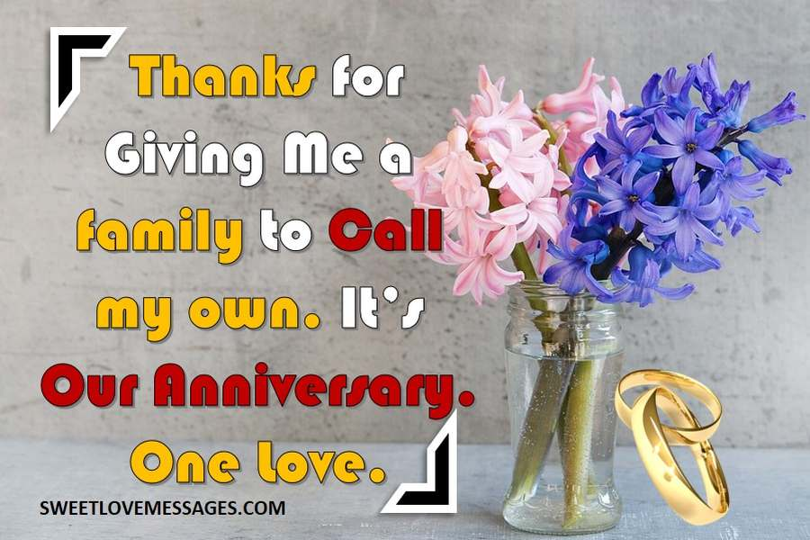 Wedding Anniversary Message to Husband from Wife