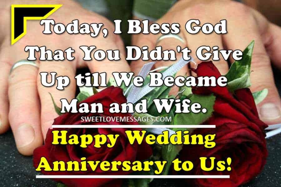 Wedding Anniversary Wishes from Wife for Husband