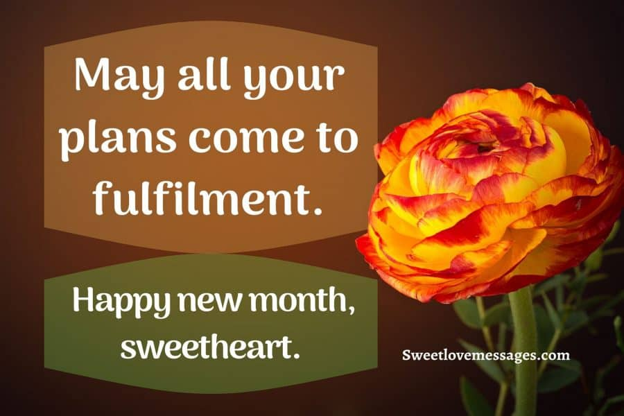 Happy New Month Messages to My Husband