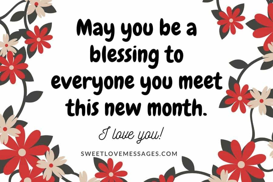 Happy New Month Messages to My Wife