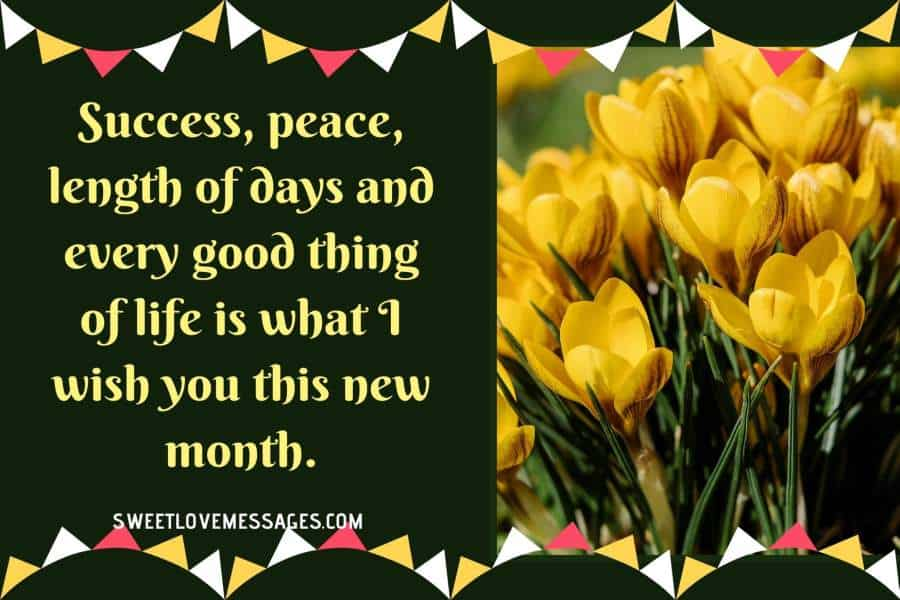 New Month Best Wishes