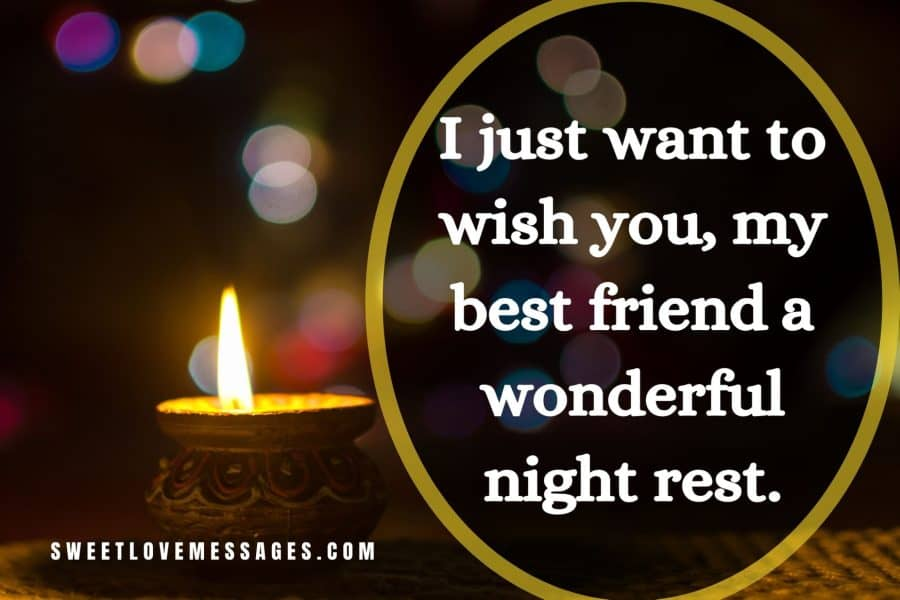 Good Night Messages for Best Friend