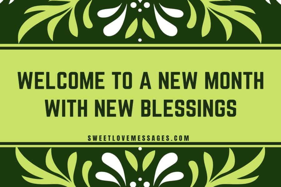 New Month New Blessings